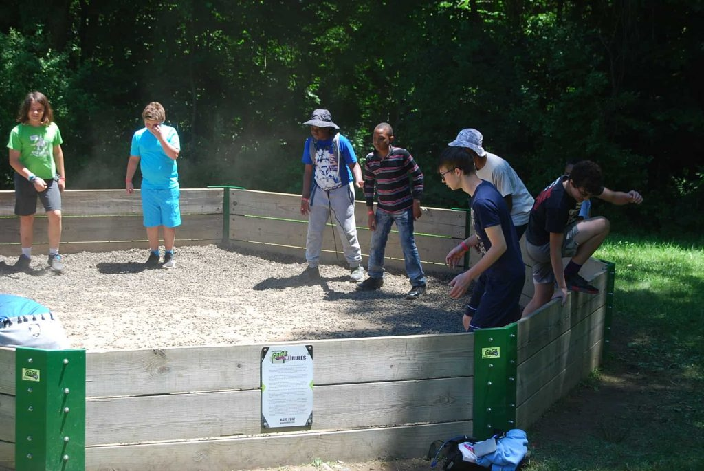 Gaga Pit is an instant attraction for Scouts - nothing makes friends faster than a fun game of Gaga.